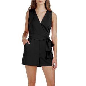 Adelyn Rae Black Low Cut Romper Shorts NWT Medium